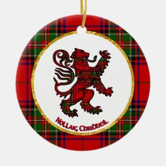 Scottish Lion Nollaig Chridheil Christmas Ornament
