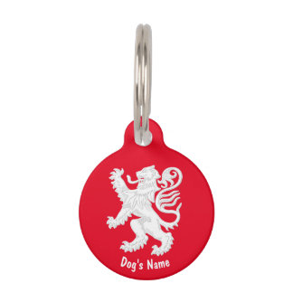 Scottish Lion Personalize Pet ID Tag