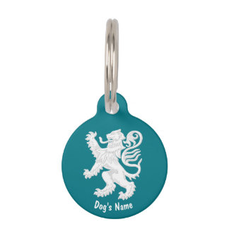 Scottish Lion Personalize Pet Name Tag