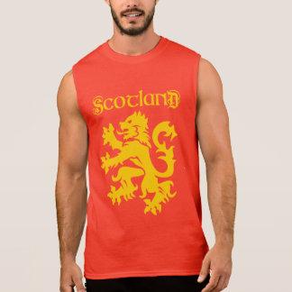 Scottish Lion Rampant Symbol Sleeveless Shirt