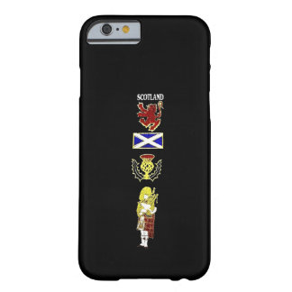 Scottish Lion, Thistle, Flag and Piper in Tartan Barely There iPhone 6 Case