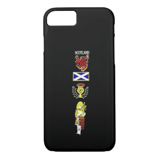 Scottish Lion, Thistle, Flag and Piper in Tartan iPhone 7 Case