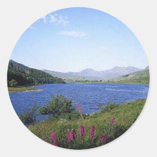 Scottish Loch Round Sticker