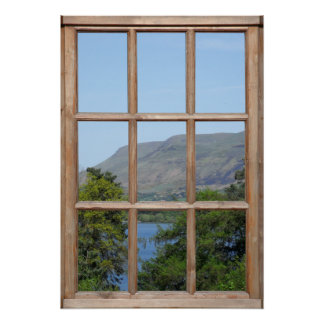 Scottish Loch View from a Window Posters