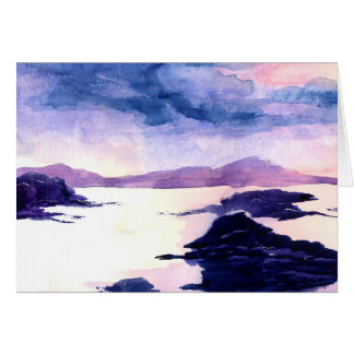 Scottish Loch Watercolour Painting Greetings Card