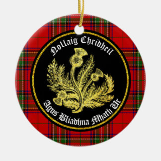 Scottish Merry Christmas and Happy New Year Christmas Ornament