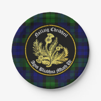Scottish Merry Christmas and Happy New Year Paper Plate