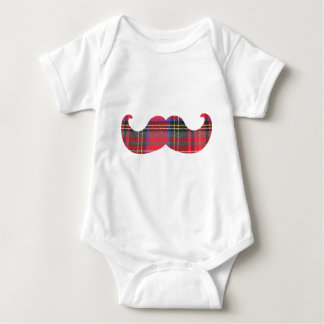 Scottish Mustache (or scottache moustache) Baby Bodysuit