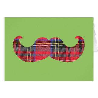 Scottish Mustache (or scottache moustache) Card