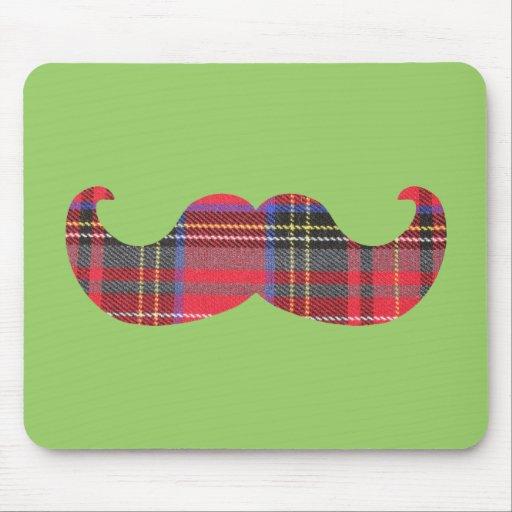 Scottish Mustache (or scottache moustache) Mousepads