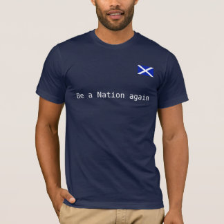 Scottish Nation Independence Saltire T Shirt
