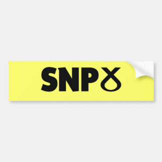 Scottish National Party (SNP) Logo Bumper Sticker