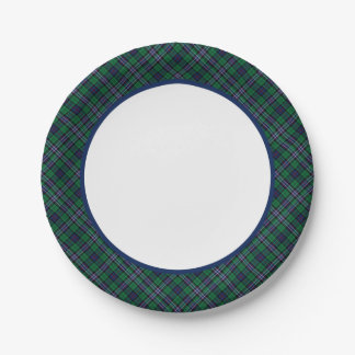 Scottish National Tartan Paper Plates 7 Inch Paper Plate