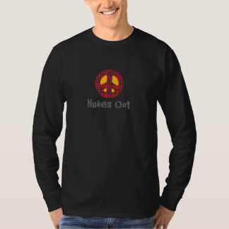 Scottish Nukes Oot Tartan Peace Symbol T-Shirt