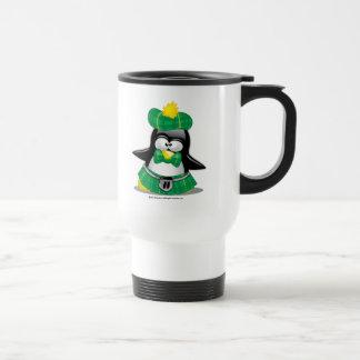 Scottish Penguin Green Stainless Steel Travel Mug