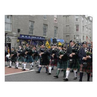 Scottish Pipeband Postcard