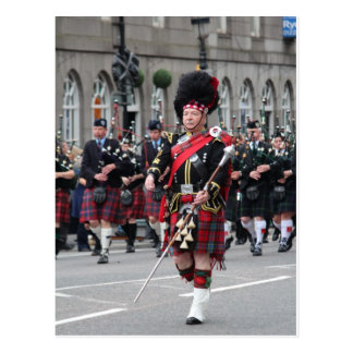 Scottish Pipeband Postcard