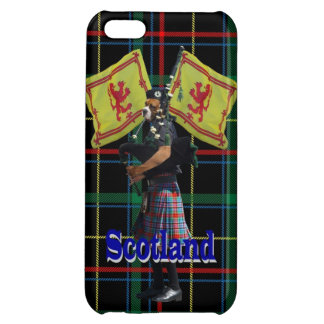 Scottish piper on tartan iPhone 5C cases