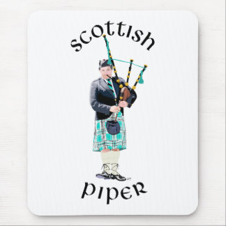 Scottish Piper - Turquoise Mouse Pad