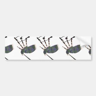 scottish plaid bagpipes bumper sticker