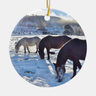 Scottish Ponies Christmas Ornament