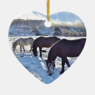 Scottish Ponies Christmas Ornament