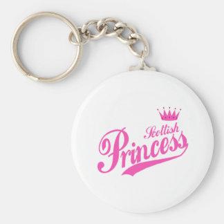 Scottish Princess Basic Round Button Key Ring