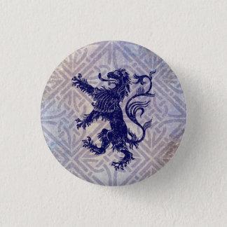 Scottish Rampant Lion Navy Blue Celtic Knot 3 Cm Round Badge