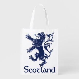Scottish Rampant Lion Navy Blue Reusable Grocery Bag