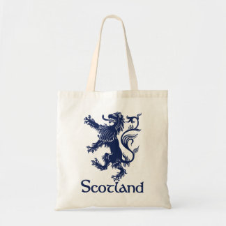 Scottish Rampant Lion Navy Blue Tote Bag