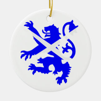 Scottish Rampant Lion Round Ceramic Decoration
