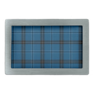 Scottish Ramsay Blue Tartan Belt Buckle