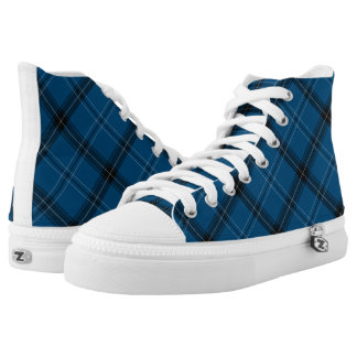 Scottish Ramsay Blue Tartan High Tops