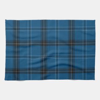 Scottish Ramsay Blue Tartan Tea Towel