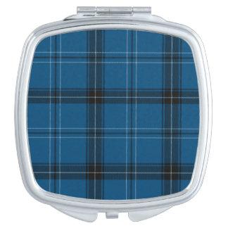 Scottish Ramsay Blue Tartan Travel Mirror