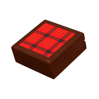 Scottish Red Tartan Gift Box