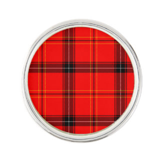 Scottish Red Tartan Lapel Pin