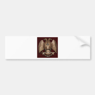 Scottish Rite 32 degree Mason Double Eagle Red Bumper Sticker
