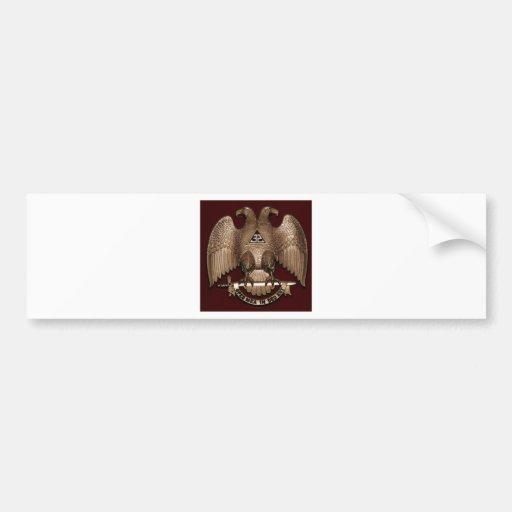 Scottish Rite 32 degree Mason Double Eagle Red Bumper Stickers