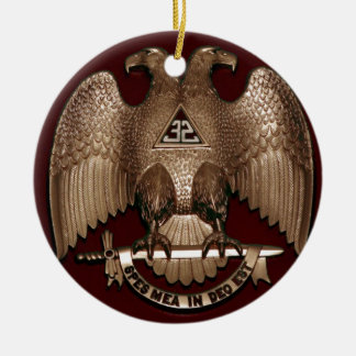 Scottish Rite 32 degree Mason Double Eagle Red Christmas Ornament
