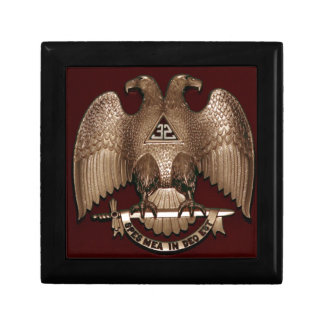 Scottish Rite 32 degree Mason Double Eagle Red Gift Box