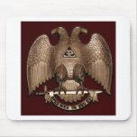 Scottish Rite 32 degree Mason Double Eagle Red Mousemat