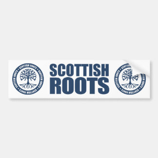 Scottish Roots Car Bumper Sticker