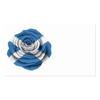 Scottish Rose Flag Pack Of Standard Business Cards