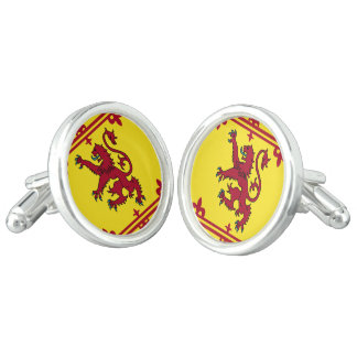 Scottish Royal Arms Flag Cufflinks