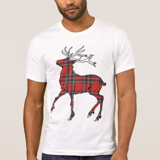 Scottish (Royal Stewart) Tartan Deer T-Shirt