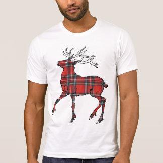 Scottish (Royal Stewart) Tartan Deer T-Shirt