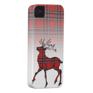 Scottish (Royal Stewart) Tartan Stag iPhone Case