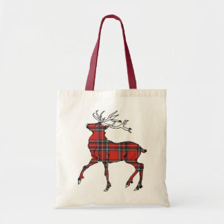 Scottish (Royal Stewart) Tartan Stag Tote-Bag Tote Bag