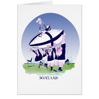 scottish rugby cheers, tony fernandes card